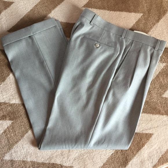 Stafford Pants Mens Linen Dress 3430 Grey Poshmark